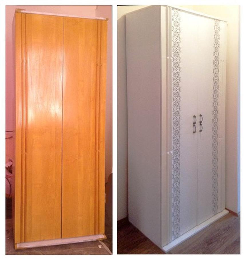 Бюджетный вариант переделки старого шкафа. переделка pintere.