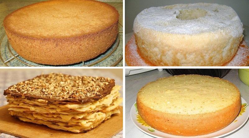 Тесто бисквитное на торт в домашних условиях 183