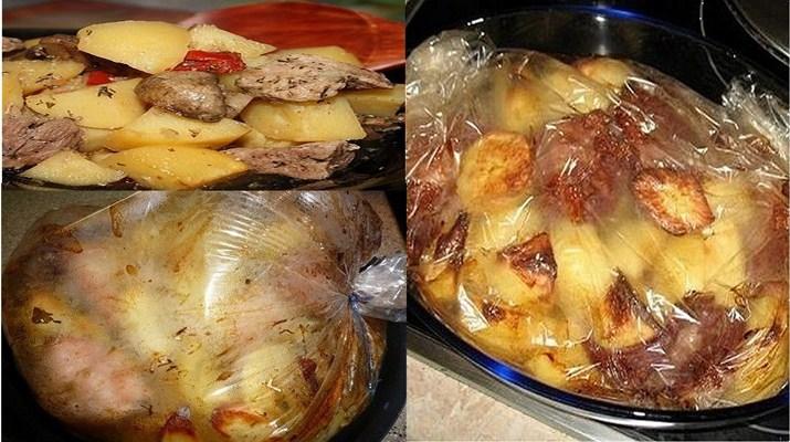 Куриное мясо в рукаве с картошкой