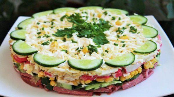 Слоеные салаты вкусно и просто