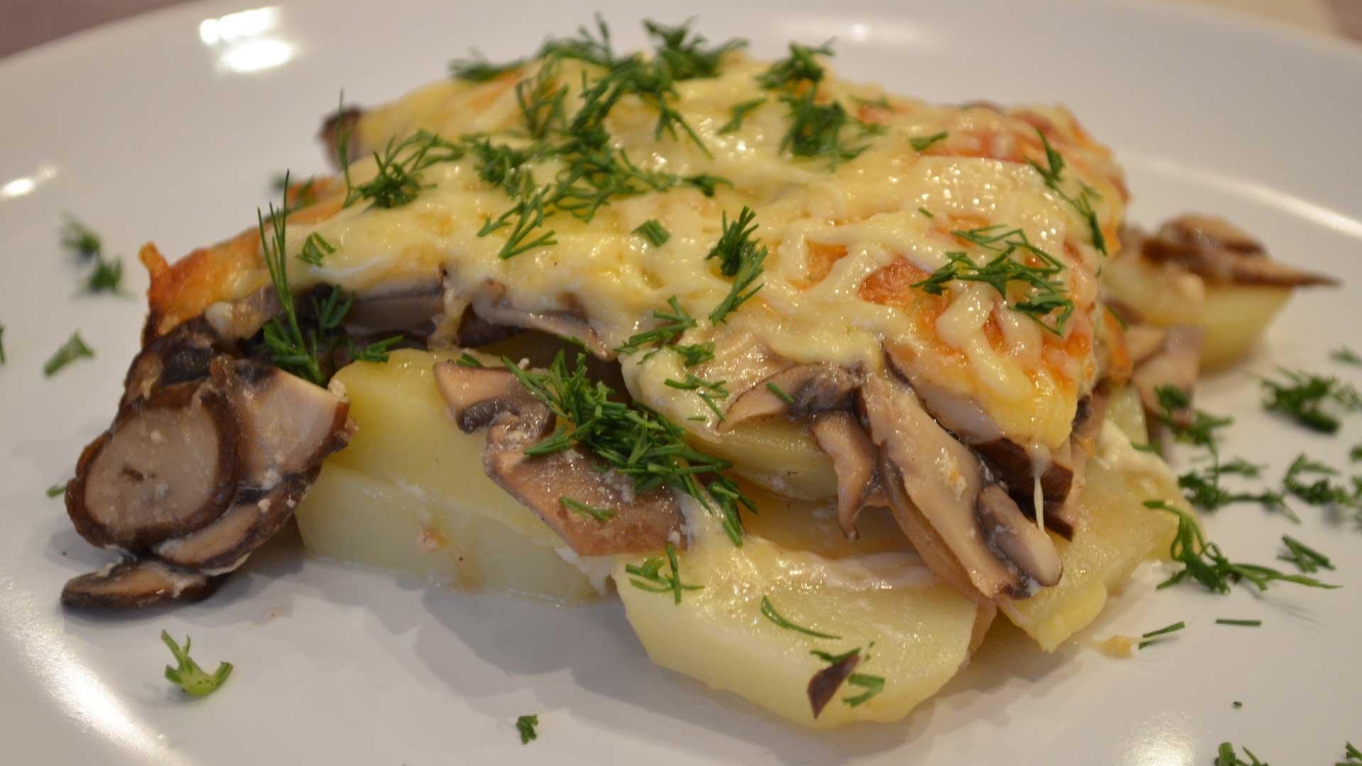 Блюда из грибов и картошки рецепты простые и вкусные