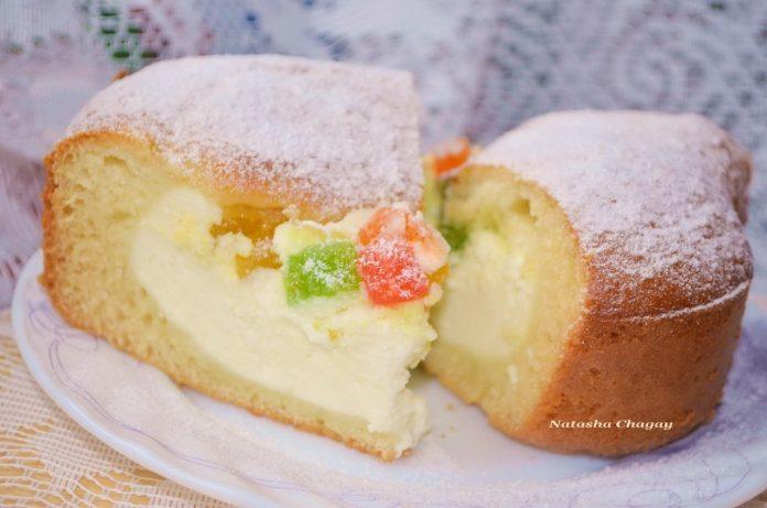 Пирог-ватрушка с творожной начинкой: прекрасный способ накормить ребенка творогом!
