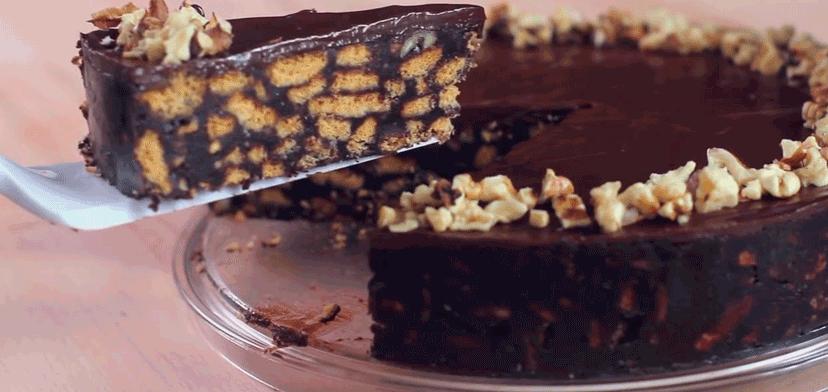 торт шоколад молоко и печенье