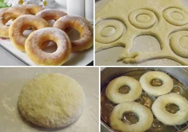пончики рецепт 15 минут