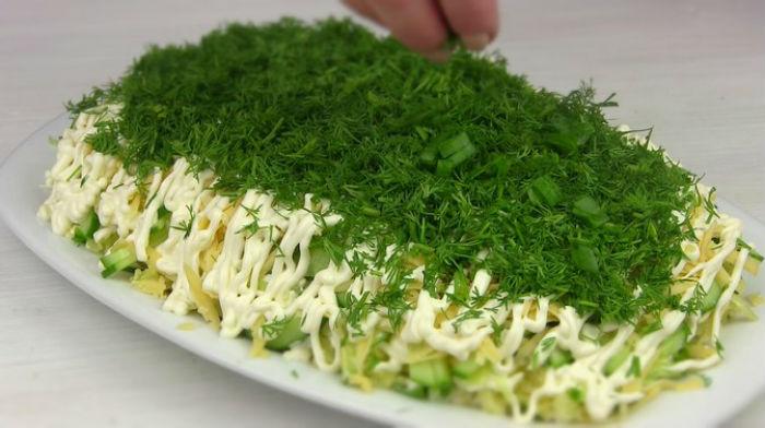 Селёдка под зеленой шубой. Любимый салат на новый лад