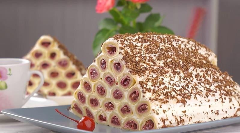 Необычайно вкусный торт «Монастырская изба» из блинов